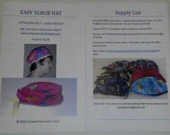 Easy Scrub Hat Pattern