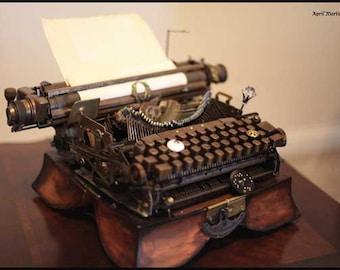 Vintage Steampunk Typewriter