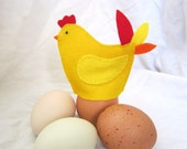 Gold Egg Cozies - Set of 2 Hens that Decorative Hold Soft Boiled Eggs