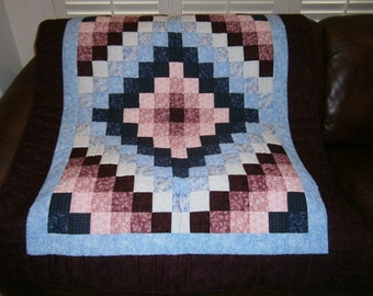 Trip Around the World - crib quilt or wall hanging