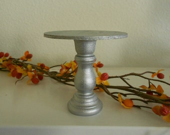 Silver mini wooden cupcake stand or cake pop stand so sweet