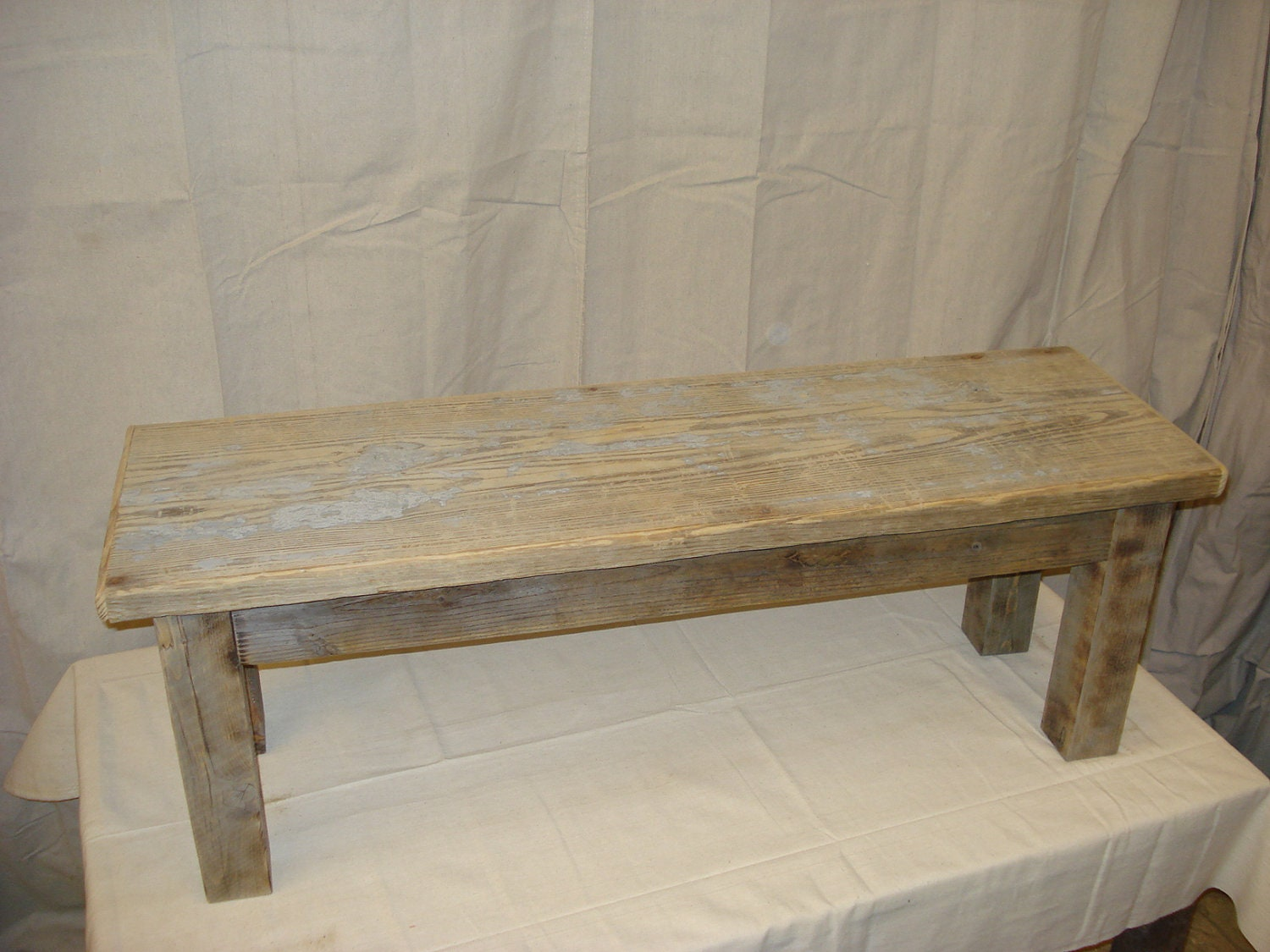 Bench Rustic Bench Reclaimed Bench Driftwood Bench Dining