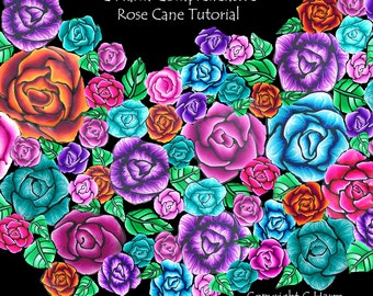 Comprehensive Polymer clay Rose cane tutorial PDF download by CHarm