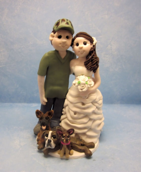 Bride and Groom  Cake topper for clarakaboom