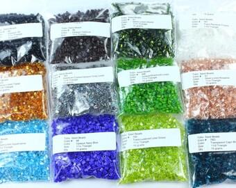 Lot 11/0 Triangle Toho Japanese Glass Seed Beads 180g -Mix