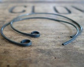 4 Pairs of my Shoals Sterling Silver Earwires - Handmade. Handforged. Heavily Oxidized. Made to Order