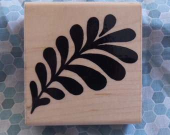Feathered Leaf Rubber Stamp