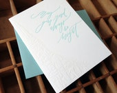 letterpress Betsy Dunlap calligraphy bright road map card