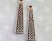 TierraCast Celtic Braid Charm, Antique Silver 2 Pc. TS53