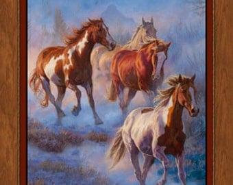 Blue Mist Horse Panel
