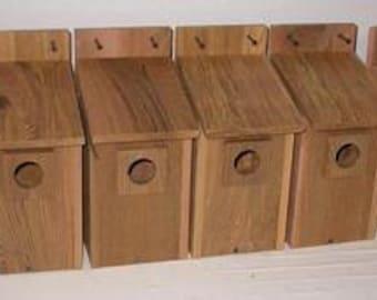 10 CEDAR  BLUEBIRD BIRDHOUSES .. free shipping...