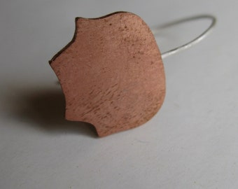 Insouciant Studios Tulip Leaf Earrings Recycled Sterling Silver and Copper