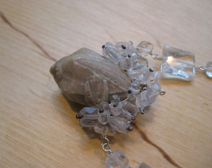 Insouciant Studios Sea Snow Necklace Fossil Sea Lily