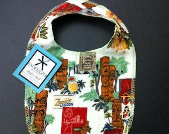 Hawaiian Tiki Print Baby Bib- Toddler *ON SALE*