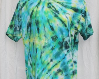 Tie Dye Shirt -Youth XLarge- Short Sleeve - Turquiose, Yellow, Green and Blue