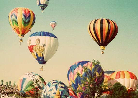 Hot Air Balloon Photo Landscape Photograph Balloon Photography