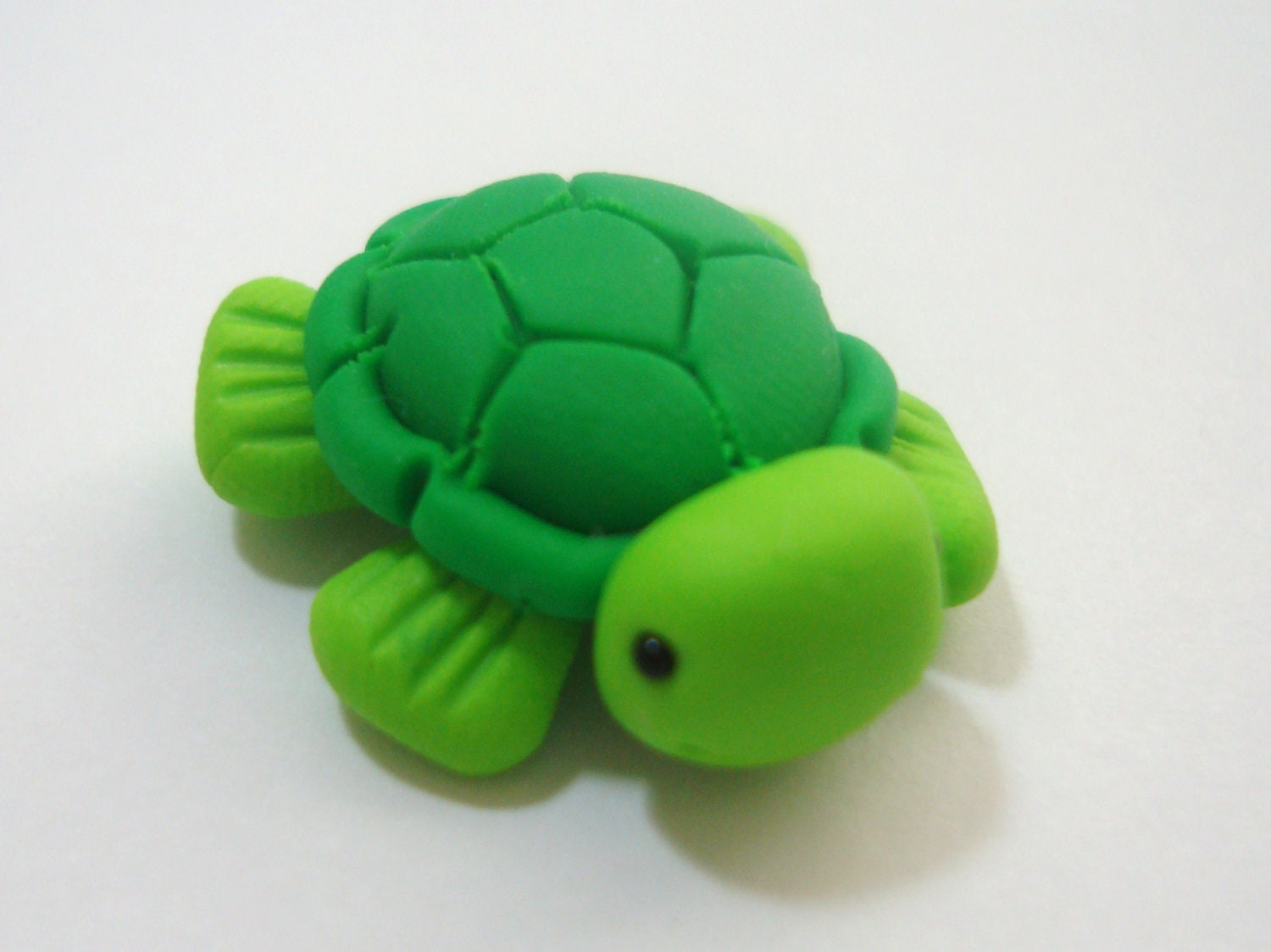 Sea Turtle Polymer Clay Charm Bead Scrapbooking Bow Center
