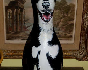 1 Custom Hand Painted BOWLING PIN with YOUR Dogs by ...