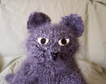 Fabulous Flexible Feline Stuffed Toy - Gray Cat