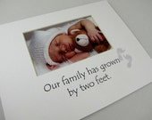 Our Family Has Grown By Two Feet 8 X 10 Picture Photo Mat Design M83