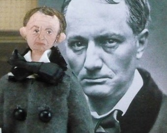Writer Doll Charles Baudelaire French Poet Art Collectible