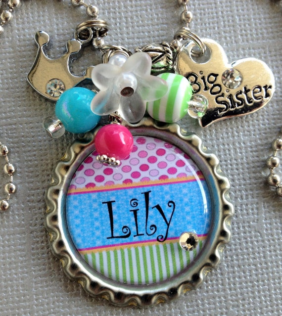 Baby Shower Gifts For Sister ~ Sister gift big or little necklace by buttonit