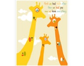 Children's Wall Art / Nursery Decor First We Had Each Other 11x14 inch print by Finny and Zook
