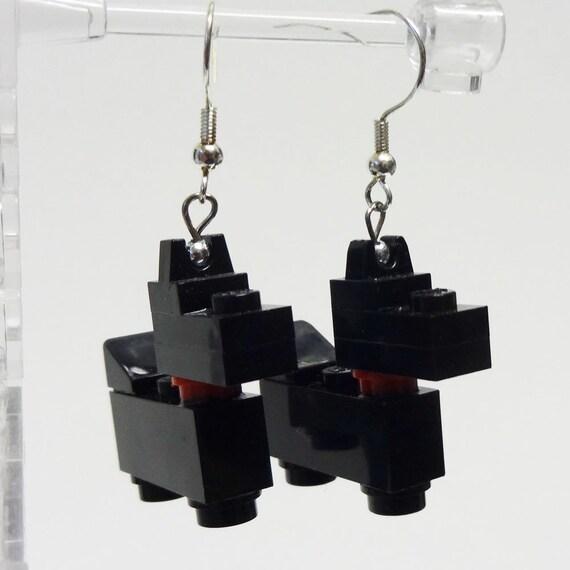 Mini Black Scottie Dog Dangle Earrings
