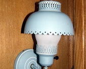 Powder Blue Wall Lamp with Globe