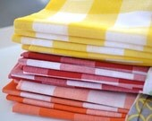 Gingham Cloth Napkins, set of four by Dot and Army