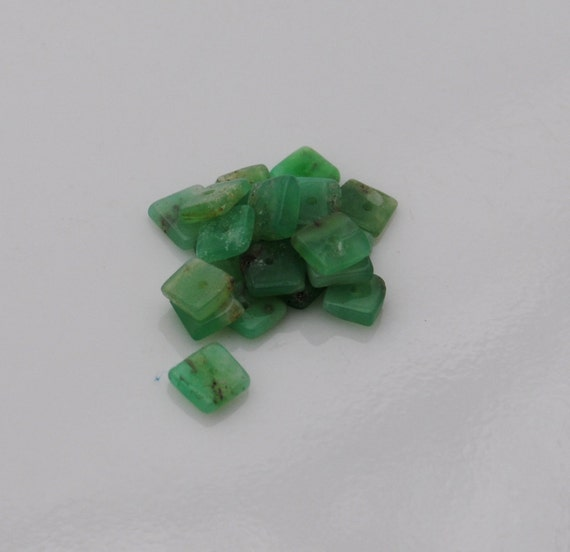 Reserved Chrysoprase Square Heishi, Qty 120 4mm