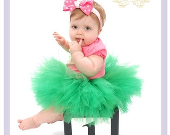 Green Tutu Dress Baby Tulle Dress Green Tutu Dress Toddler Green Flower Girl Dress 2T 3T 4T