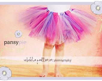 Pink And Purple Tutu Girls Ballerina Dress 5 6 7 Years SO Poofy