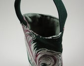 Classic Vintage Barkcloth Insulated Wine Tote