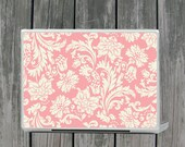 Peaches and Cream Damask Floral Laptop Mac Cover