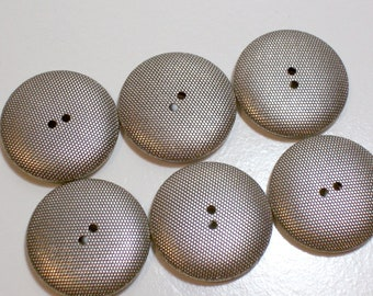 Silver Buttons, Silvertone Metal Buttons 1 1/8 inches in diameter x 20 pieces