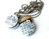 Teen Boy Gift, Teen Boy Jewelry, Teen Boy Necklace, Guy Gift, Guy Locket, Boy Locket Necklace, Cyclist Gift, 3 in 1, Cool Gift, Unique