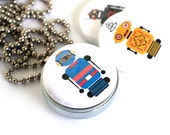 Robot Locket Necklace • Gift for Boy • Locket for Boy • Holds Family Picture in School • Homesick Helper • Robot Jewelry • Magnetic Necklace