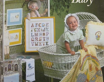 VIntage For Your Baby Charted Cross Stitch Pattern Book Leisure Arts