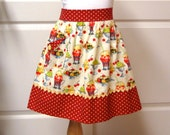 Half Apron with Pocket for Girls Cooking Crafting Apron