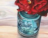 BALL JAR 5 x 7 inch print signed by artist