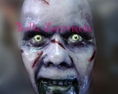 The EXORCIST Linda Blair Face cast, hand painted face SCARY for display only Halloween