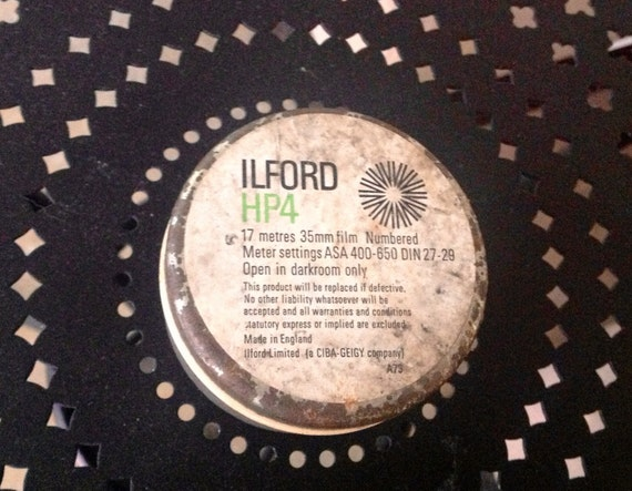 Ca 1985 17 meters of Ilford HP4 Film Discontinued