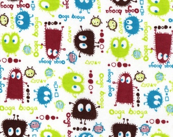EARTH Ooga Booga, Cotton Interlock Knit Fabric, by the Yard