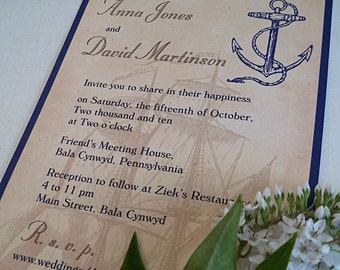 Beach wedding invite Etsy