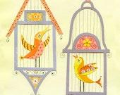 Sing, Sing A Song Bird Print 8.5 x 11