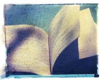 Book Photography Polaroid Vintage Art 8x10 Print