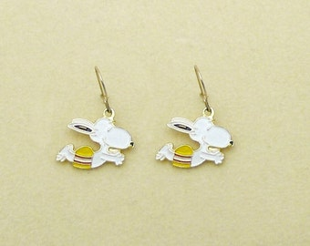 Aviva Vintage Snoopy Diving Earrings 0002