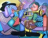 Last Call Woman Girls Ladys Music Cubist Anthony Falbo