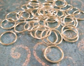 50 Silver Plated Soldered 10mm Closed Jump Rings Brass 10mm Outside 18 Gauge - 50 pc - 5836-5